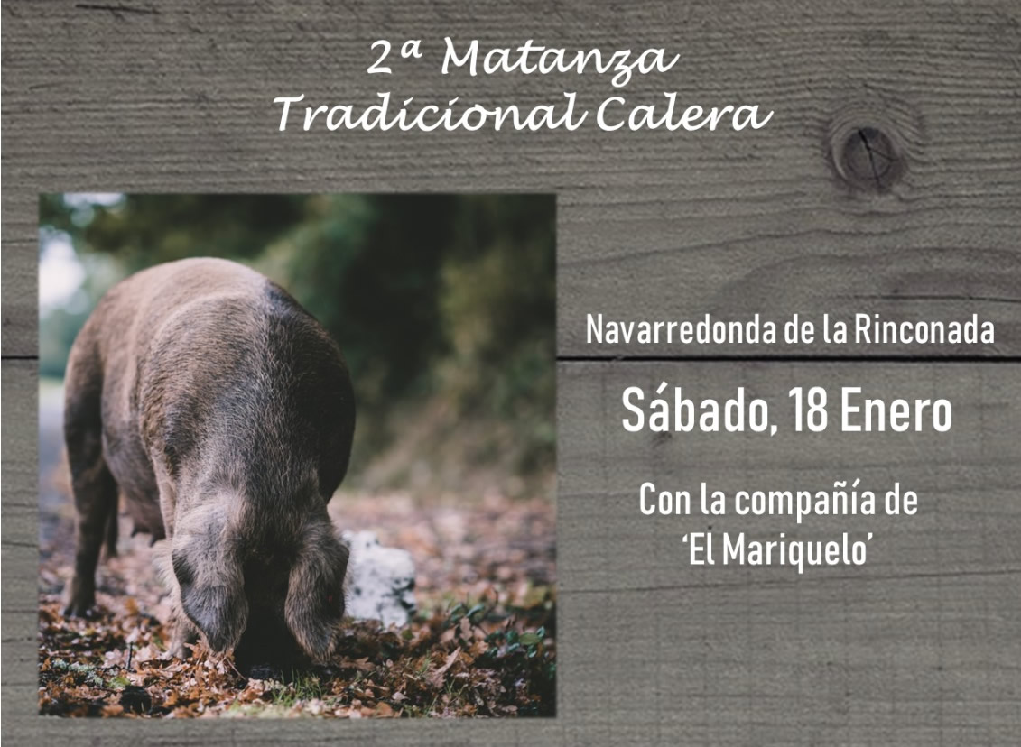 "2ª Tradicional ""matanza"" calera. 18.01.2020"